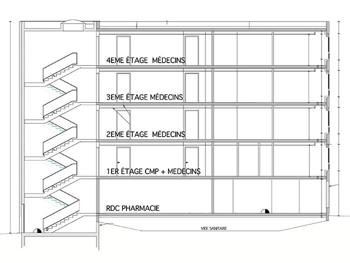 R f rences architecturales book portfolio for Coupe verticale d un batiment