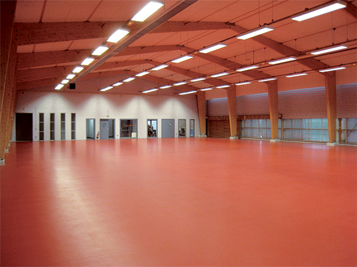 Seconde salle (extension) - Gymnase Descartes, Construction & extension d'une salle multisports